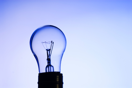 Blue Glass Light Bulb - 2